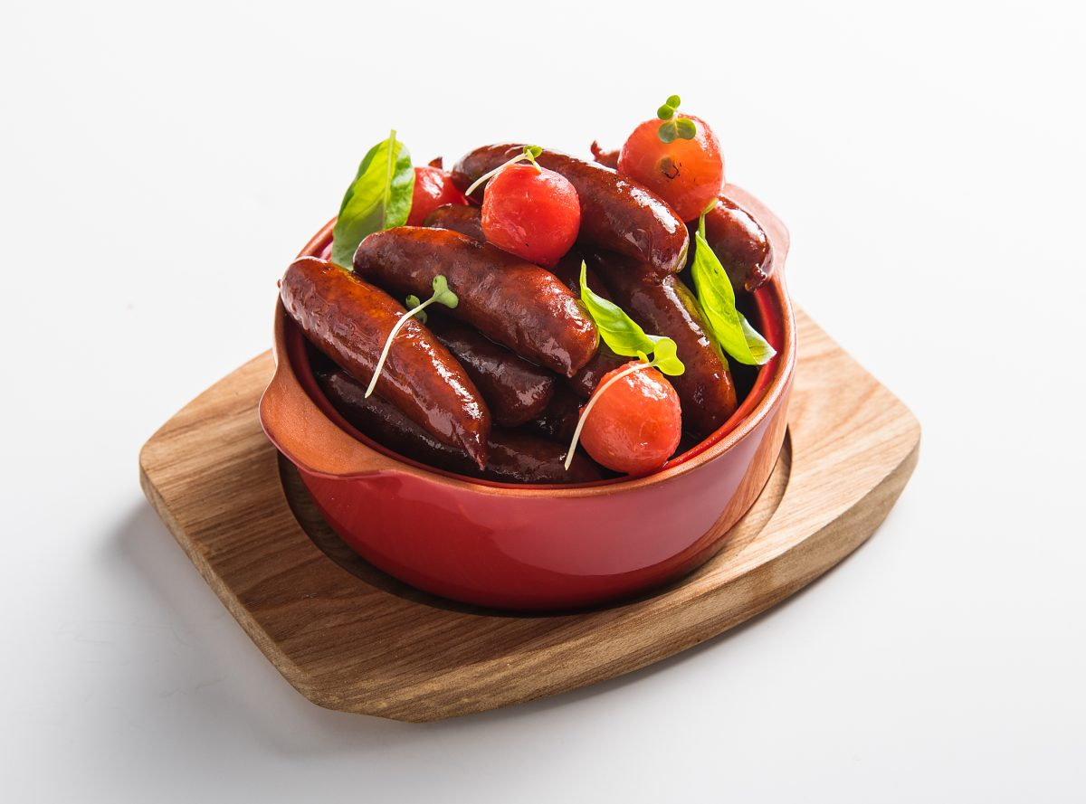 Semi cured chorizo 15g dish plate