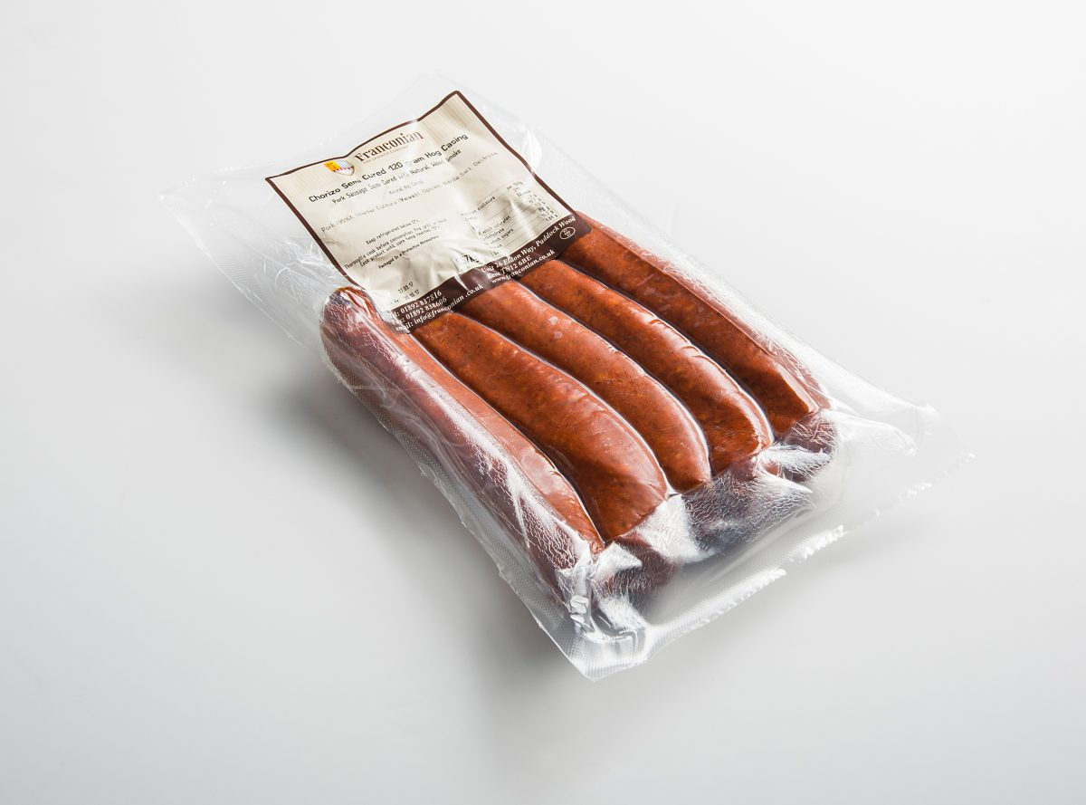 semi cured chorizo 120g 5 pack packaging