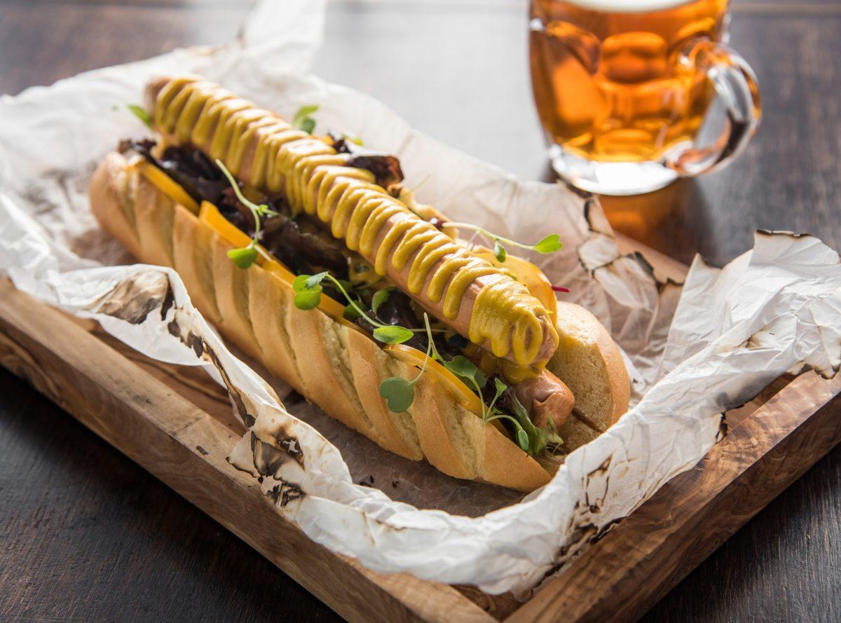 Frankfurter inspiration hotdog served up