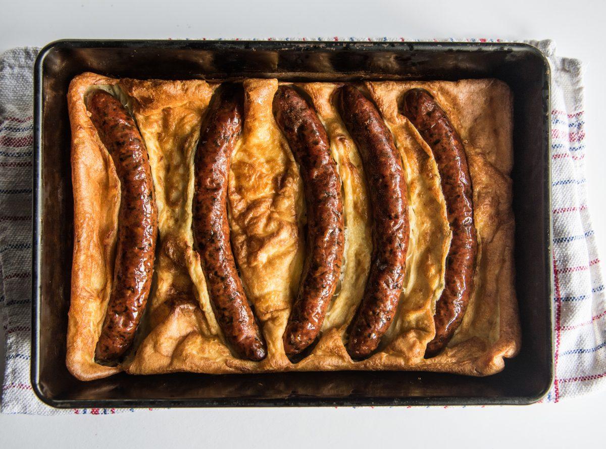 hot smoked londoner dish served up close up