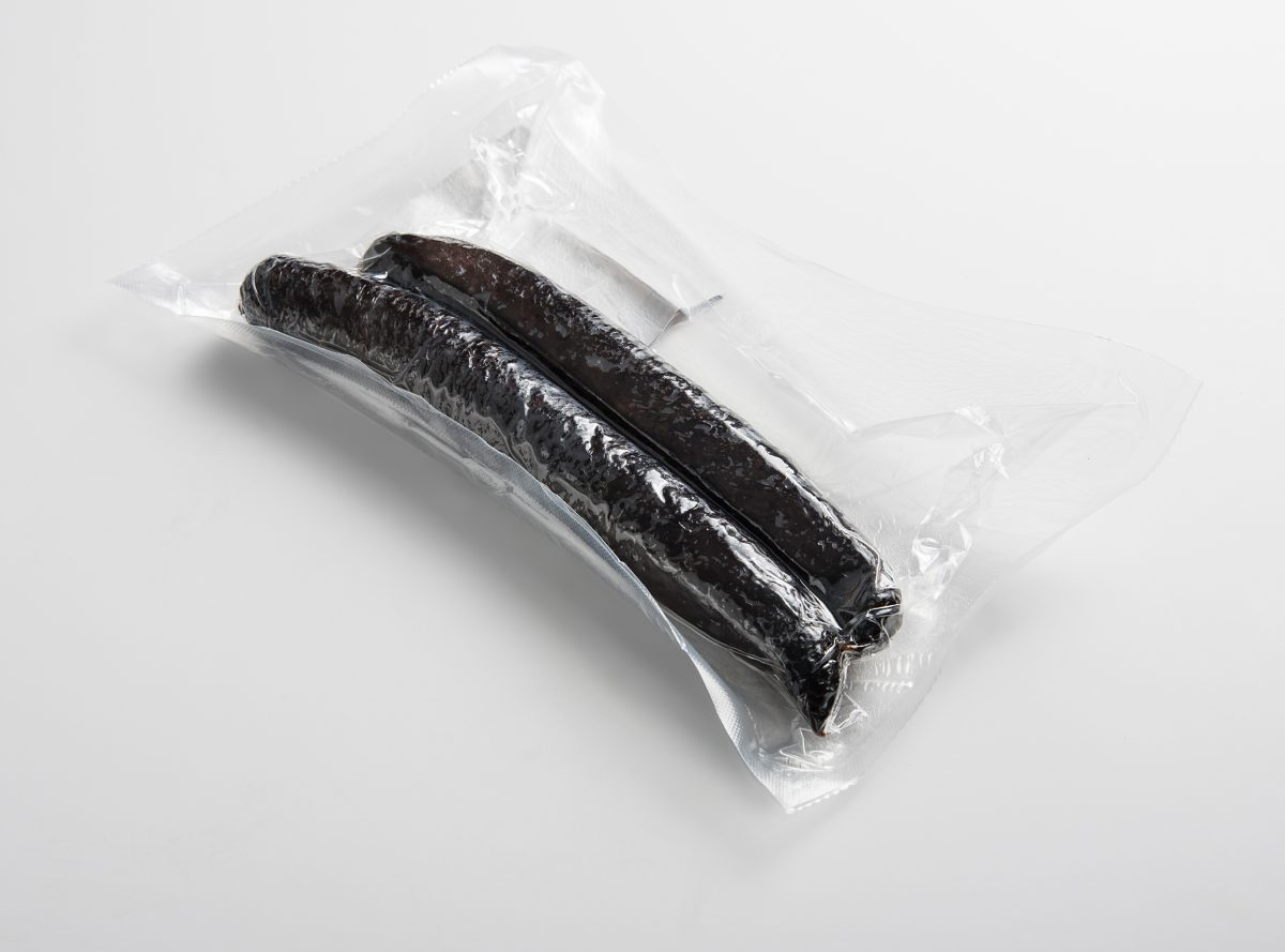 smoked black pudding bottom packaging